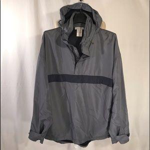 NWOT Zegna Sport hooded pullover windbreaker. Sz L